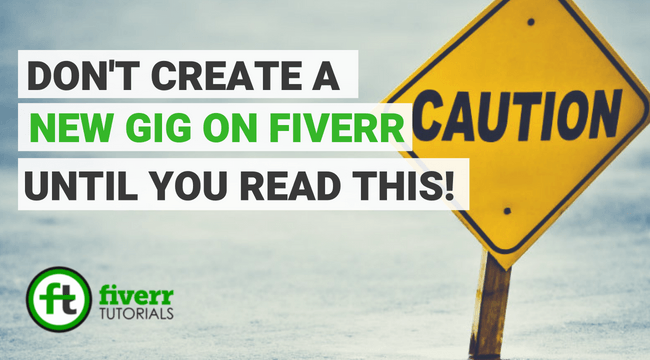 create new gig on fiverr