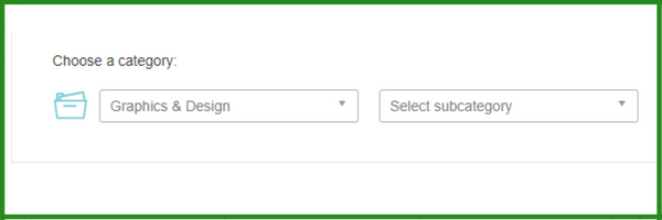 categories to post buyers request on fiverr