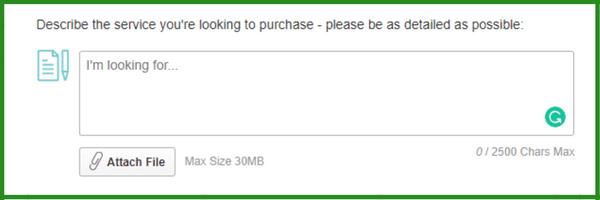 description to post buyers request on fiverr