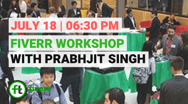 fiverr event with prabhjit singh on 18 july 2018