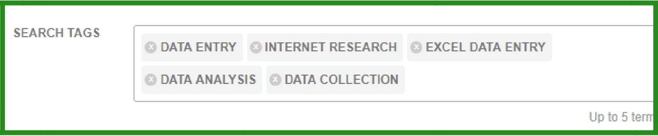 fiverr keyword reseach through fiverr search tags