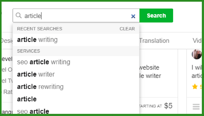 fiverr search tags